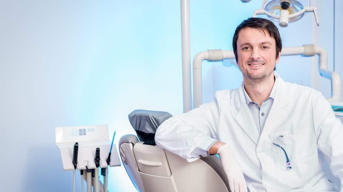 A dental hygienist